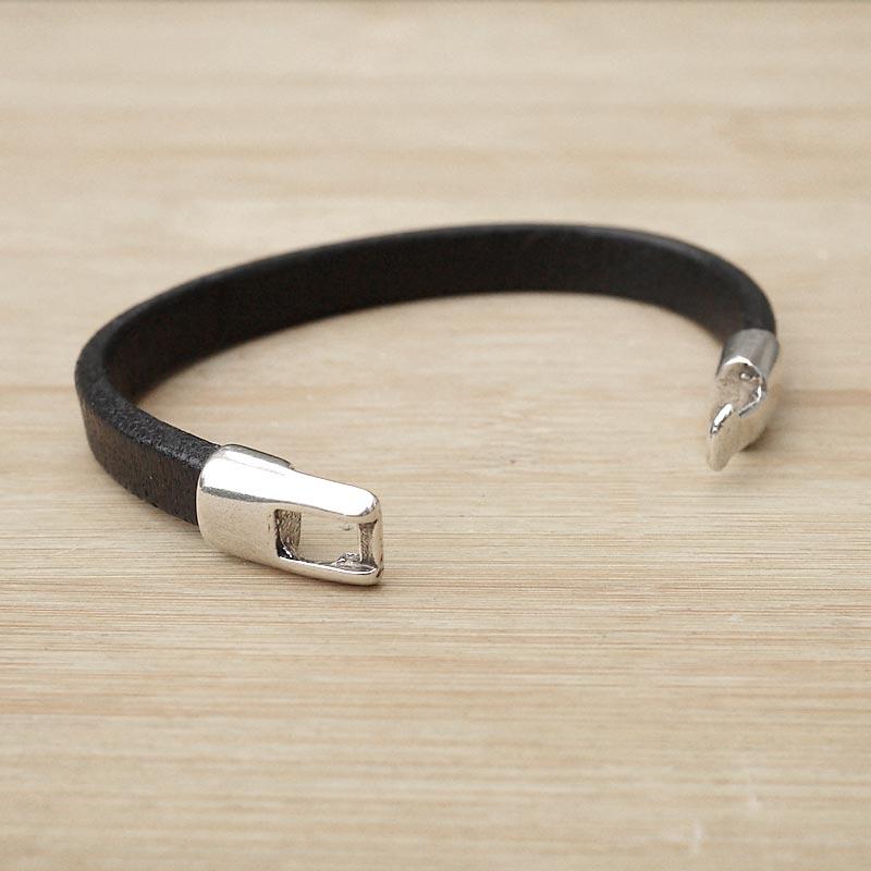 bracelet cuir artisanal homme cuir regaliz noir fifi. Black Bedroom Furniture Sets. Home Design Ideas