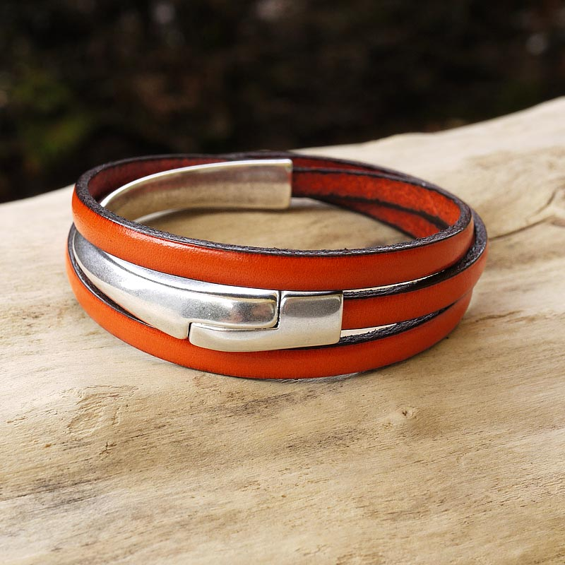 bracelet cuir femme fait main