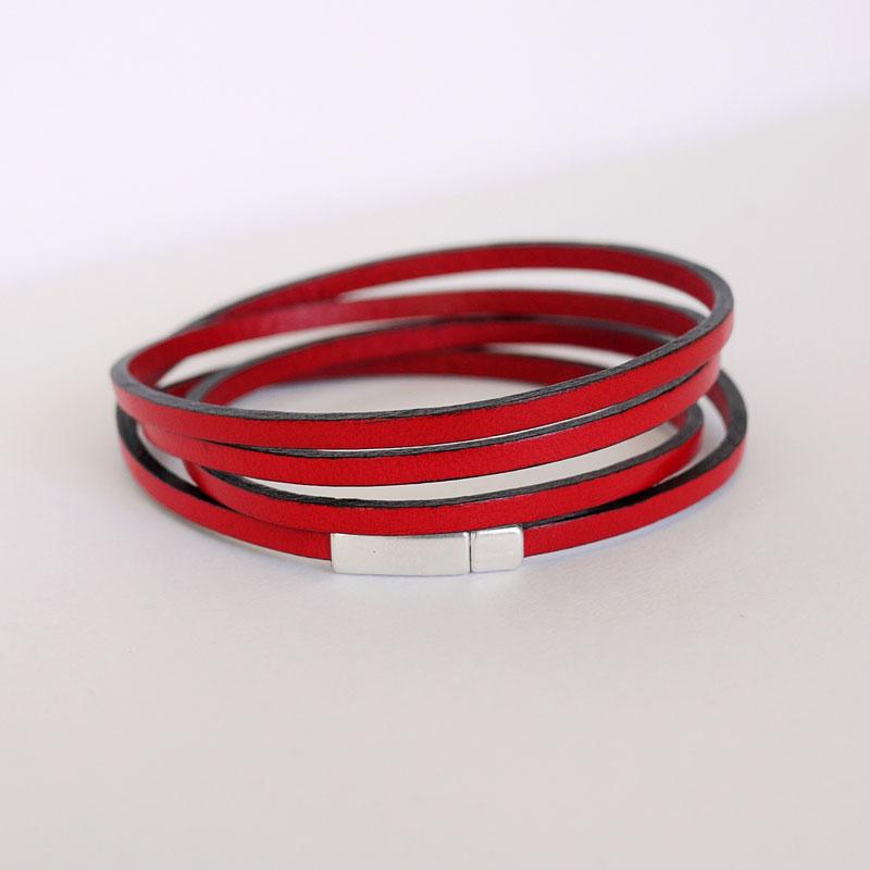 bracelet cuir fin femme