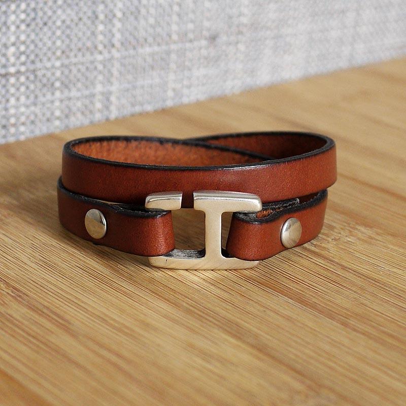 fermoir bracelet cuir homme