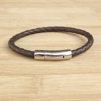 bracelet-cuir-homme-tresse-simple-inox-marron-010