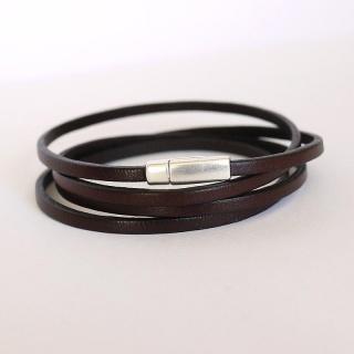 bracelet femme metal et cuir