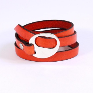 bracelet-cuir-femme-oval-reglable-orange-010