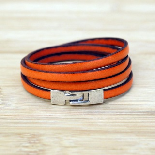 bracelet-cuir-femme-simple-orange-022